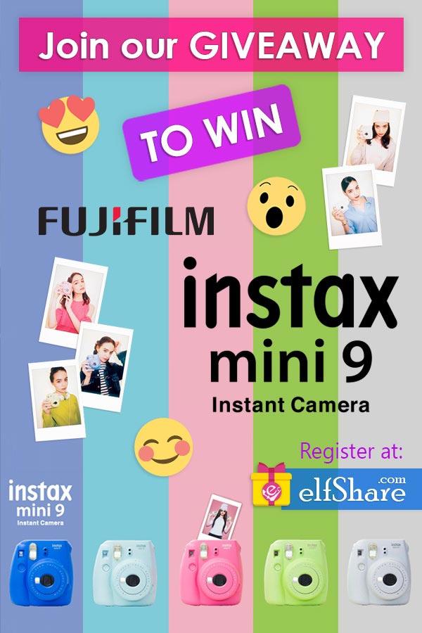 Giveaway Fujifilm Instax Mini 9